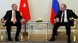 Президенты России и Турции встретились в Санкт-Петербурге