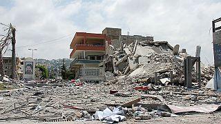 Une usine alimentaire bombardée à Sanaa (Yémen)