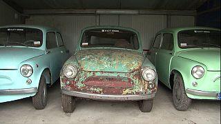 Sovyet dönemi araçlardan koleksiyon