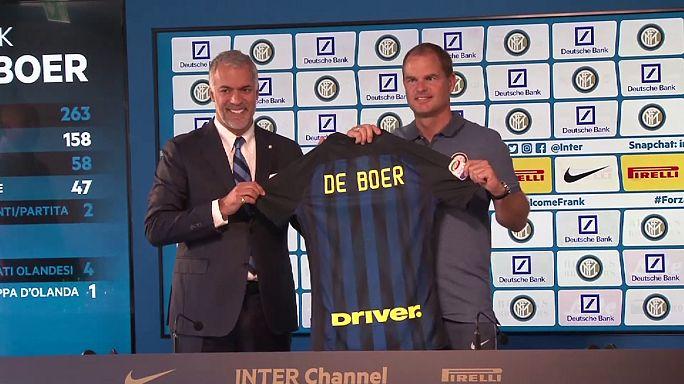 Calcio: il nuovo tecnico dell'Inter Frank De Boer si presenta