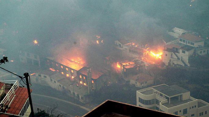 اجلاء 400 شخص جراء حرائق الغابات في جزيرة ماديرا البرتغالية