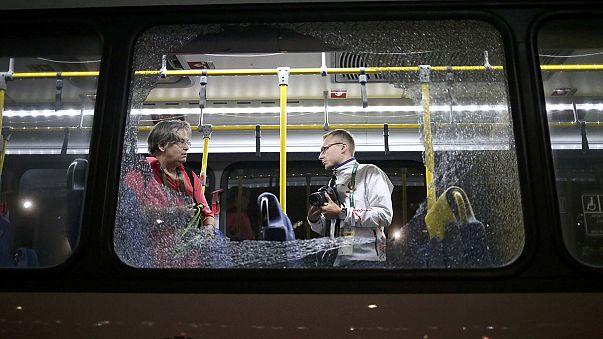 اطلاق نار على حافلة تقل صحفيين في اولمبياد ريو