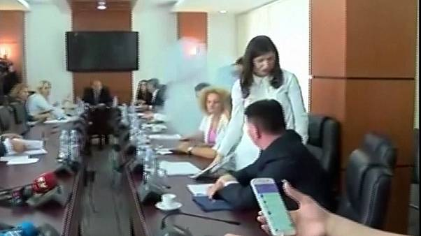 Kosovan MP uses tear gas to disrupt parliamentary meeting