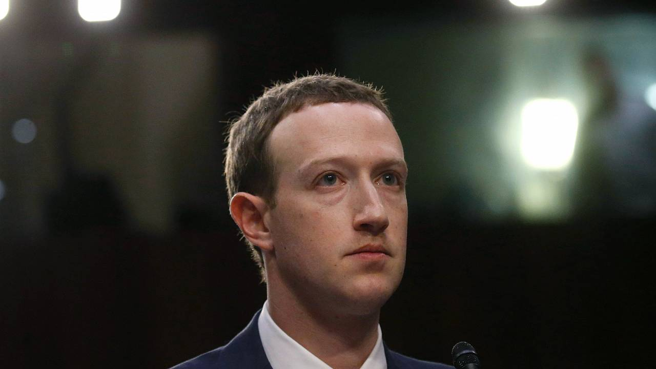 Facebook CEO Zuckerberg testifies before a U.S. Senate joint hearing on Cap