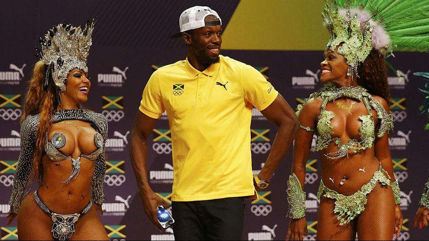 Usain Bolt Brezilya'da sambayla başladı