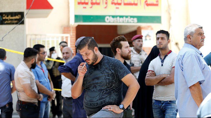 Kigyulladt egy bagdadi kórház koraszülött osztálya