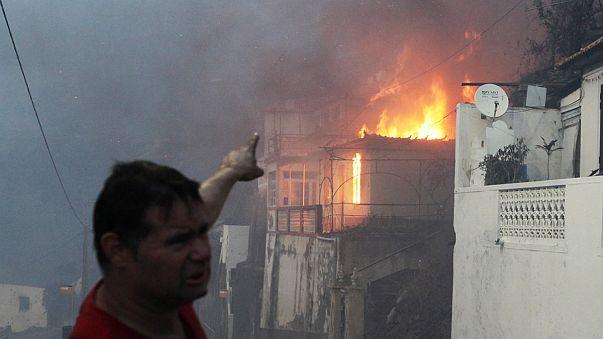 Portekiz yangınlara teslim: 100'den fazla bölge yanıyor