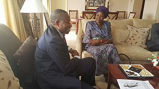 [Photos] Head of AU observers meets Zambia's only female presidential candidate