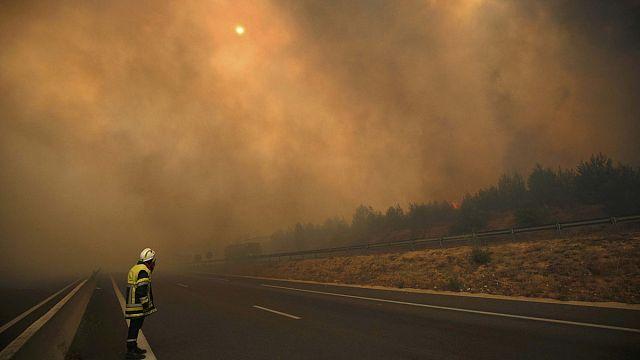 Fransa'nın güneyinde korkutan yangın