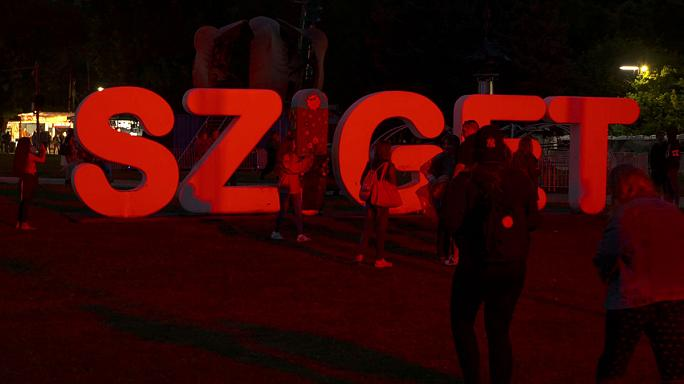 Rain not deterring festival-goers as Budapest's Sziget opens its doors