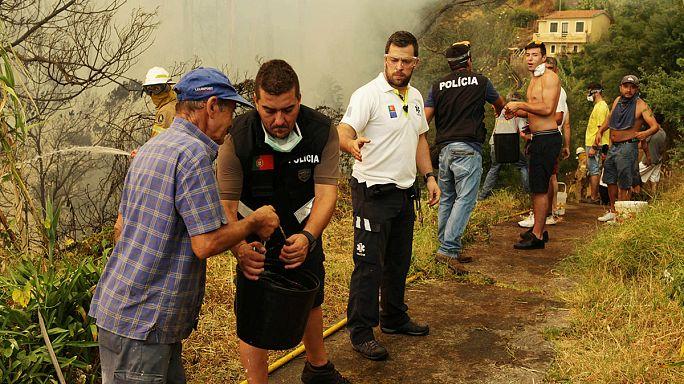 Portugál erdőtüzek: Madeira szigetén sokat javult a helyzet