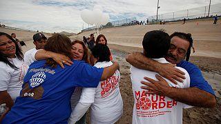 لقاء حار بين مهاجرين وعائلاتهم