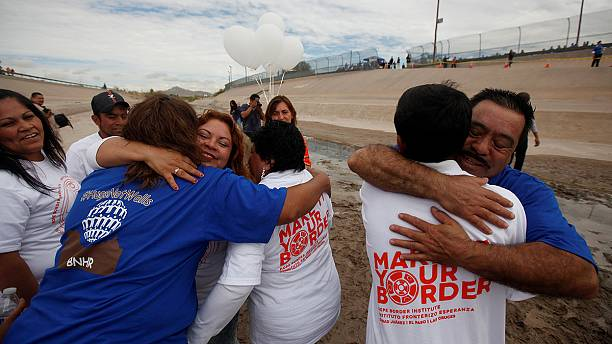 Time to hug for migrants and their families