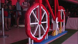 ساخت بزرگترین دوچرخه با لگو در دنیا
