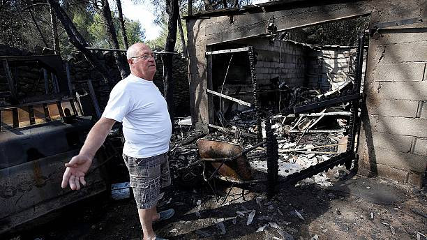 Fires lay waste to large areas of southern France