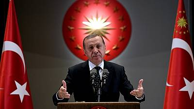 Pro-Erdogan Turks protest in Nigeria
