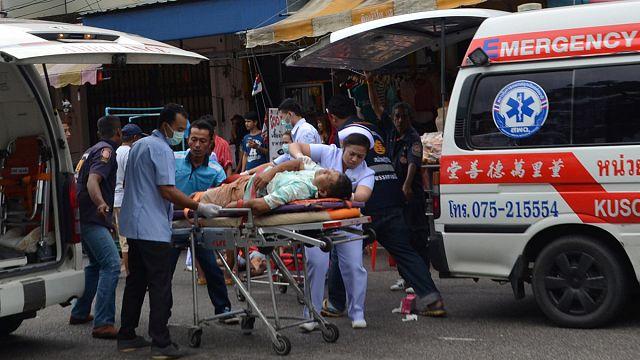Mobillal robbantott bombák egy thaiföldi üdülőközpontban