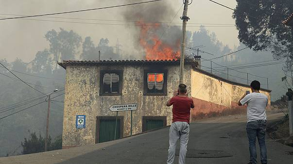 Portugal hace frente a 151 incendios en el centro y norte del país