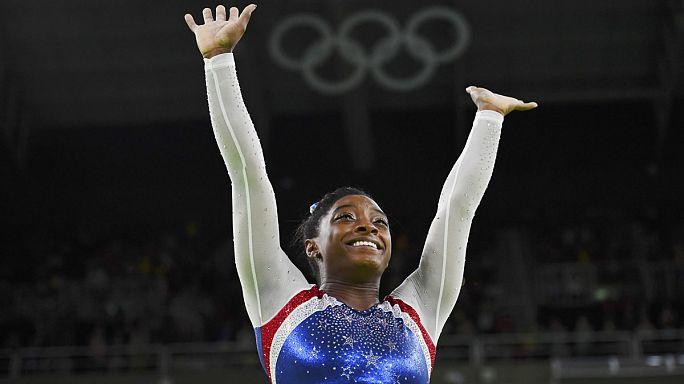 Jimnastikte altın madalya ABD'nin genç yıldızı Simone Biles'ın