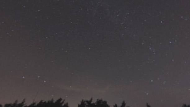 The Perseid meteor shower at its peak