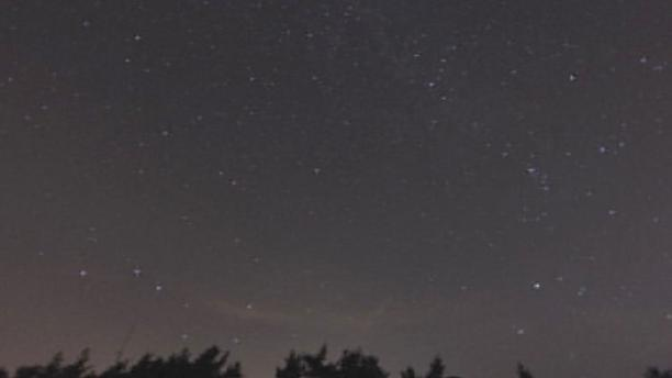 The Perseid meteor shower at its peak
