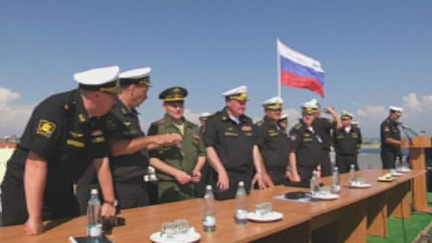 Russian navy holds an exercise in the Black Sea