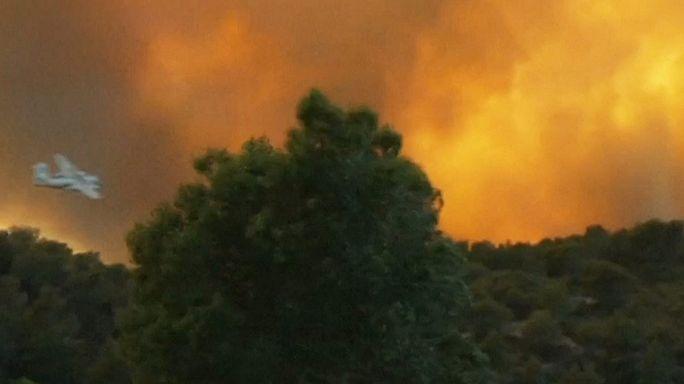 الحرائق تلتهم الغابات في جنوب غرب فرنسا