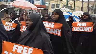 Islamic movement of Nigeria in protests