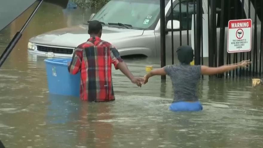 Dramatic video emerges of rescue in flood-hit Louisiana