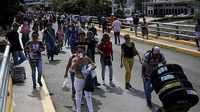 Venezuelans cross into Colombia to buy basic supplies