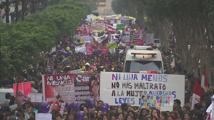 Lima protesters demand end to violence against women