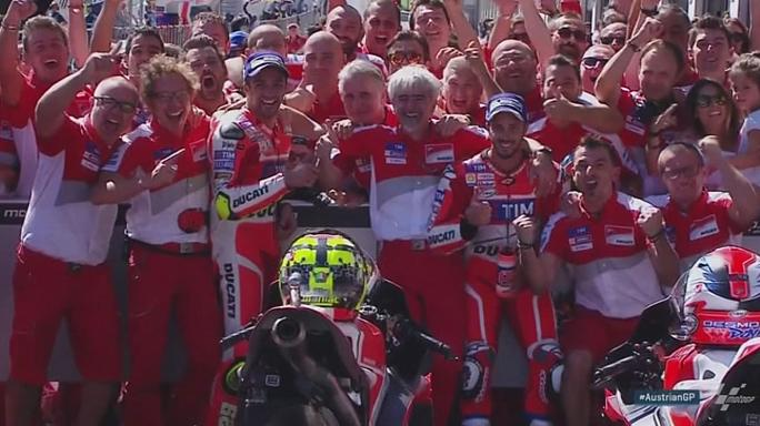 Doblete italiano en el Gran Premio de Austria de Moto GP