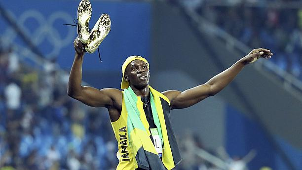 Usain Bolt wins a hat-trick of 100 metres Olympic titles