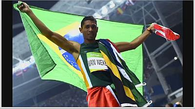 South African Wayde van Niekerk smashes Michael Johnson's 400m world record