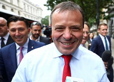 Arron Banks was questioned by British lawmakers.