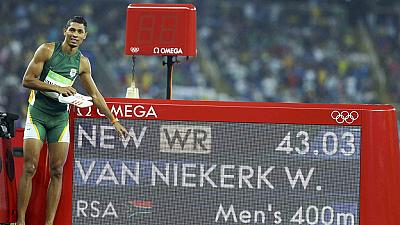 South Africa celebrates 400m gold medalist on Twitter