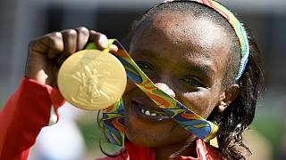 Jemima Sumgong delivers Kenya's first gold in Rio