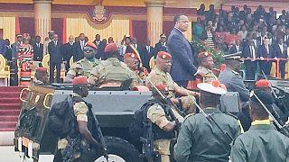 Indépendance du Congo : cinq chef d'État aux côtés de Sassou Nguesso