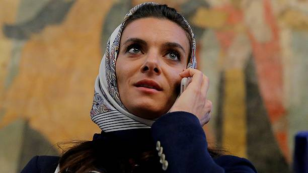 Pole vaulter Isinbayeva arrives in Rio to compete in IOC commission election