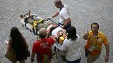 Rio 2016: telecamera cade su folla, tre feriti