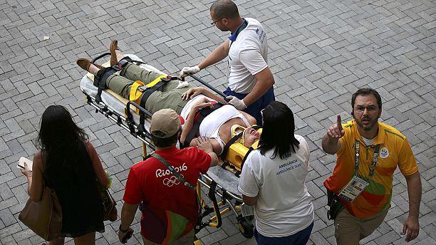 Several people injured after camera comes crashing down at Rio Olympics