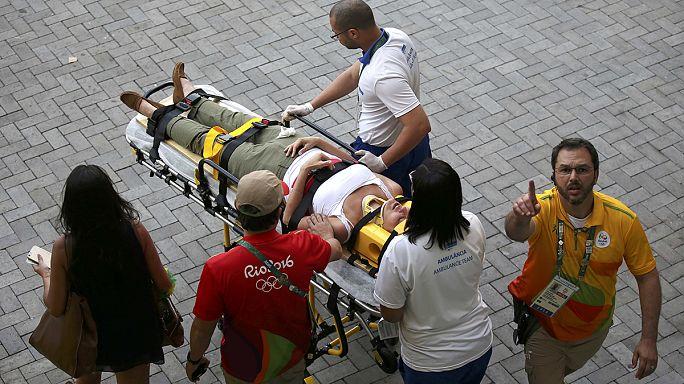 Rio'da kamera seyircilerin üzerine düştü: 3 yaralı