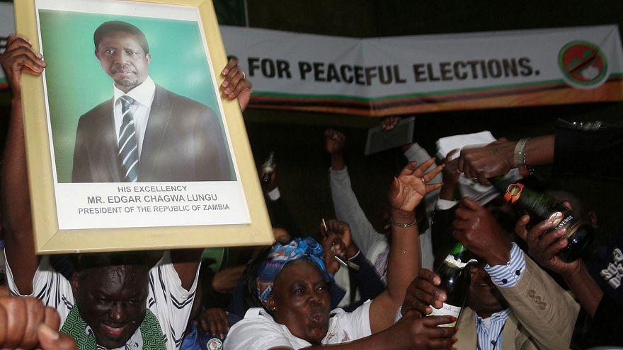 Präsident in Sambia wiedergewählt