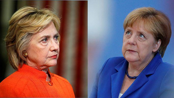 Дональд Трамп сравнил Хиллари Клинтон с Ангелой Меркель, и это не было комплиментом