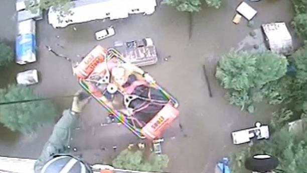 U.S. Coast Guard assists in several dramatic Louisiana flood rescues.
