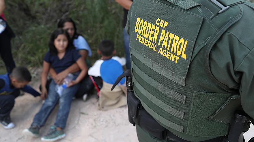 Image; Border Patrol Agents Detain Migrants Near US-Mexico Border