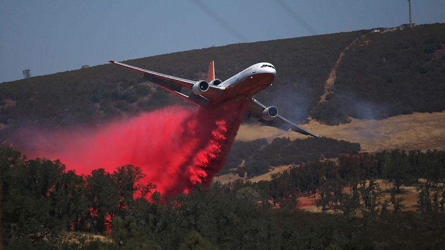 North California fire: man arrested for arson