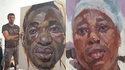 Meet Tim Benson, the Ebola portrait painter