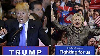 Trump sees Merkel in Hilary Clinton
