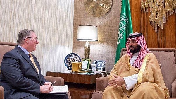 Image: Saudi Crown Prince Mohammed bin Salman meets Joel Rosenberg in Riyad